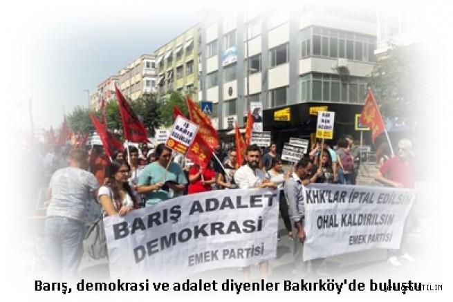 1 Eylül Dünya Barış Günü dolayısıyla  Barış, demokrasi ve adalet diyenler Bakırköy'de buluştu