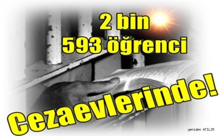 2 bin 593 öğrenci Cezaevlerinde!