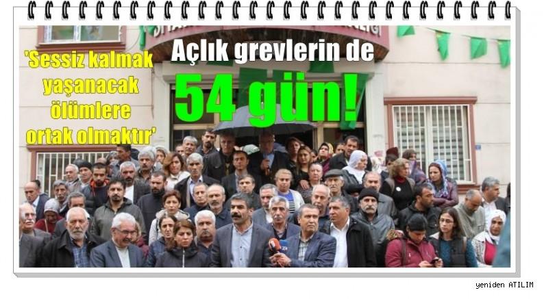 Açlık grevlerin de 54 gün!    Sessiz kalmak yaşanacak ölümlere ortak olmaktır