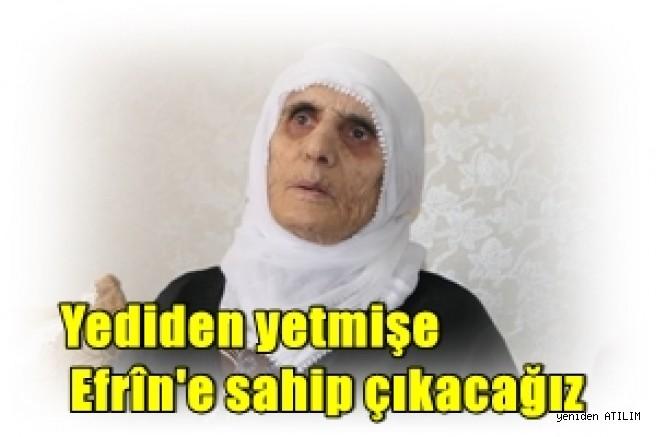 Amedliler:  Yediden yetmişe Efrîn'e sahip çıkacağız