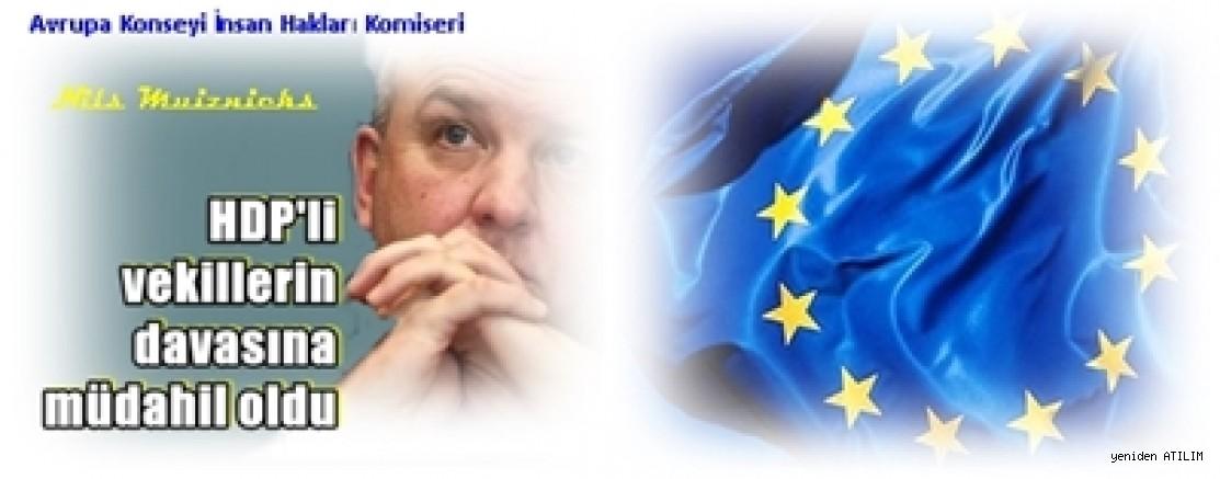 Avrupa Konseyi İnsan Hakları Komiseri Muiznieks,HDP'li vekillerin davasına müdahil oldu