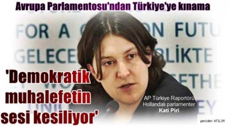 Avrupa Parlamentosu'ndan Türkiye'ye kınama