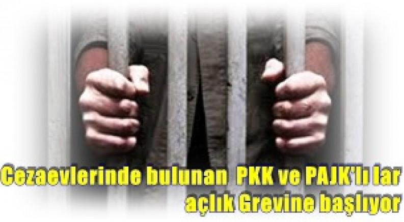 Cezaevlerinde bulunan  PKK ve PAJK'lılar açlık Grevine başlıyor