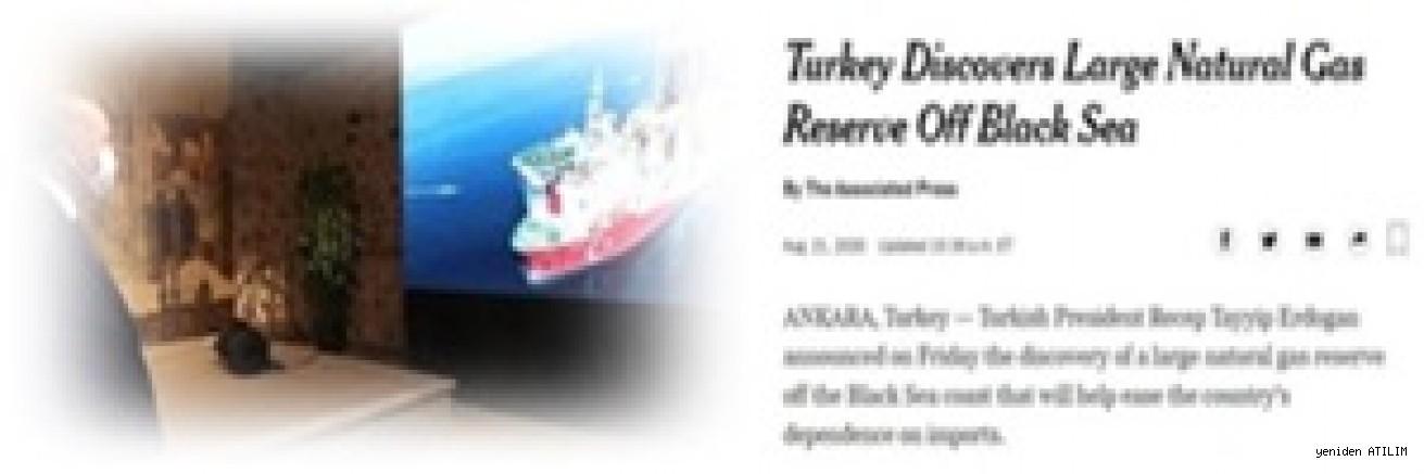 Cumhurbaşkanı Erdoğan'ın Doğal gaz müjdesi Dünya basınında!