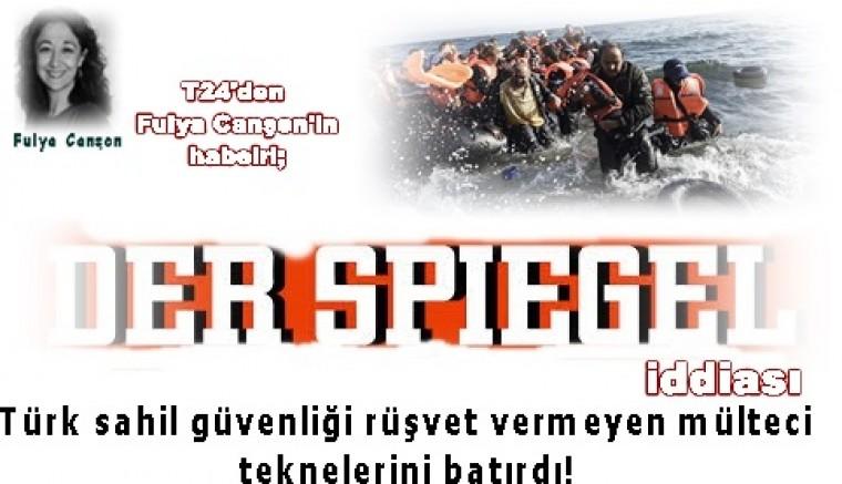 Der Spiegel'in iddiası:  Türk sahil güvenliği rüşvet vermeyen mülteci teknelerini batırdı!