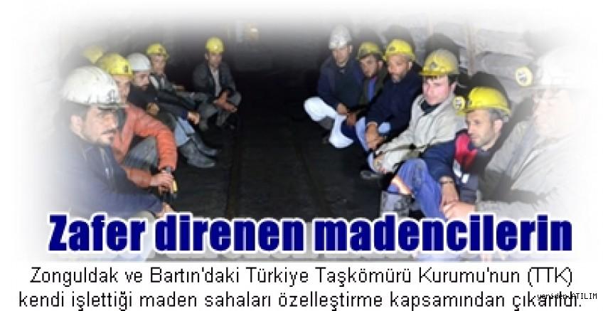 Direnen maden işçileri kazandı