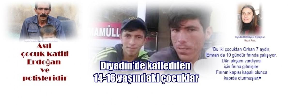 Diyadin'de katledilen 14-16 yaşındaki çocuklar!