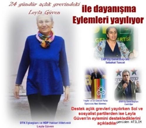 DTK Eşbaşkanı ve HDP Hakkari Milletvekili Leyla Güven 24 gündür açlık grevinde!