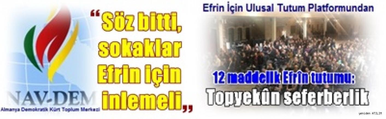 Efrin İçin Ulusal Tutum Platformundan ve NAV-DEM'den