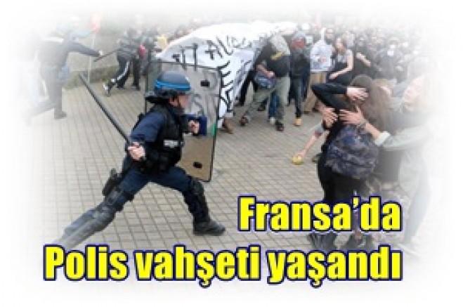 Fransa'da, Kapitalist sisitem, krizin yükünü Emekçilere yüklemek için  polis vahşeti!