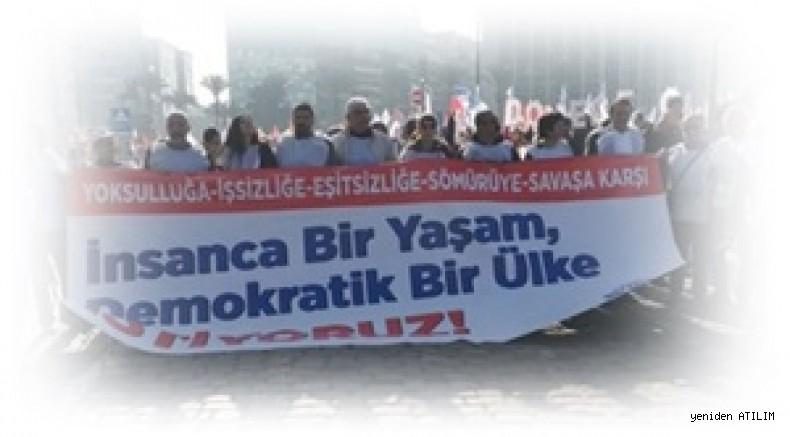 'Halk için bütçe, demokratik Türkiye' Şiarıyla KESK İzmir'de miting düzenledi