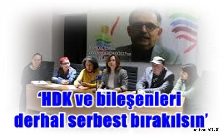 HDK Eşsözcüsü Gülistan Kılıç Koçyiğit: Savaş karşıtlığı üzerinden insanlık adına olan çığlık boğulmak istendi