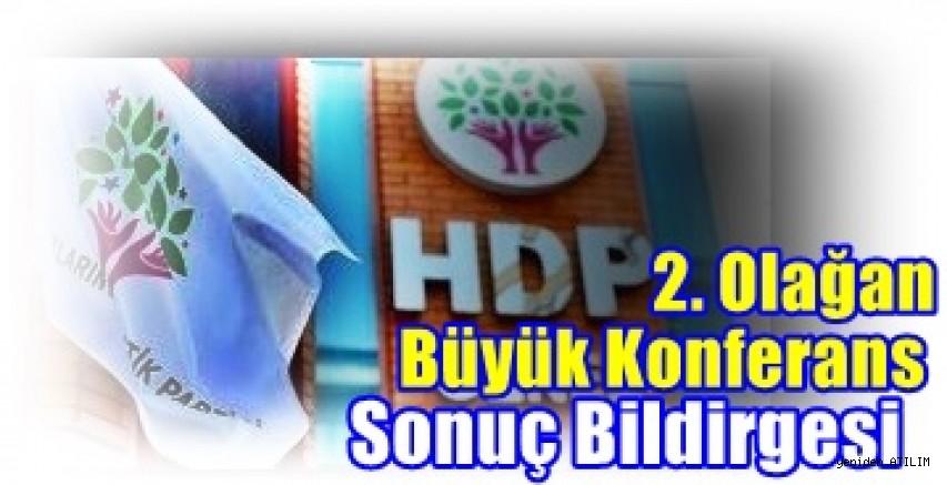 HDP 2. Olağan Büyük Konferans Sonuç Bildirgesi