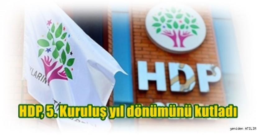 HDP, 5. Kuruluş yıl dönümünü kutladı. Demirtaş ve Yüksekdağ'dan 5. yıl mesajı