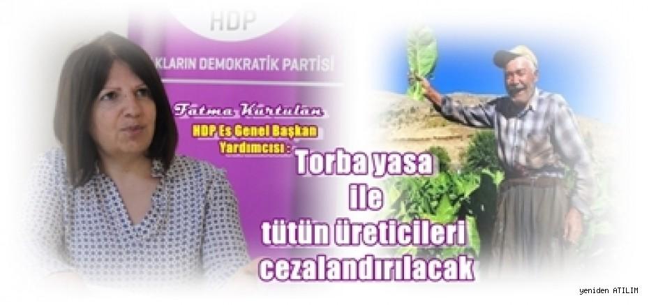 HDP Eş Genel Başkan Yardımcısı Fatma Kurtulan:  Torba yasa ile tütün üreticileri cezalandırılacak