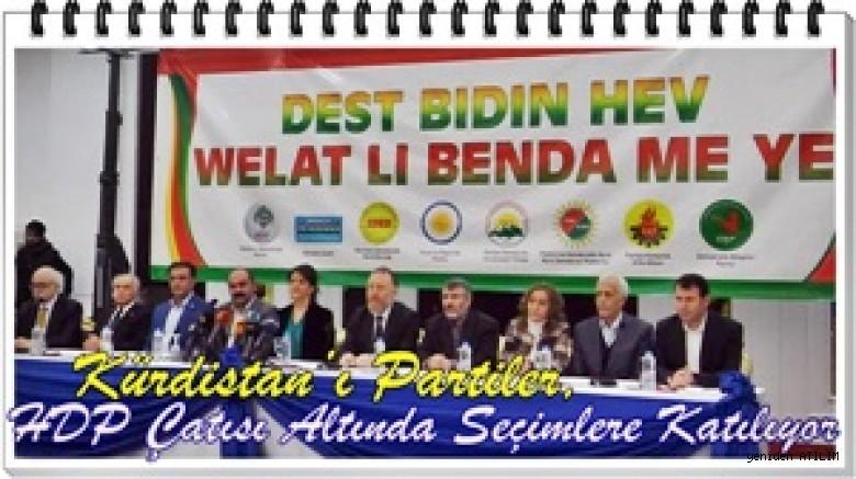 Kürdistan Partileri HDP Çatısı Altında Yerel Seçimlere Katılıyor
