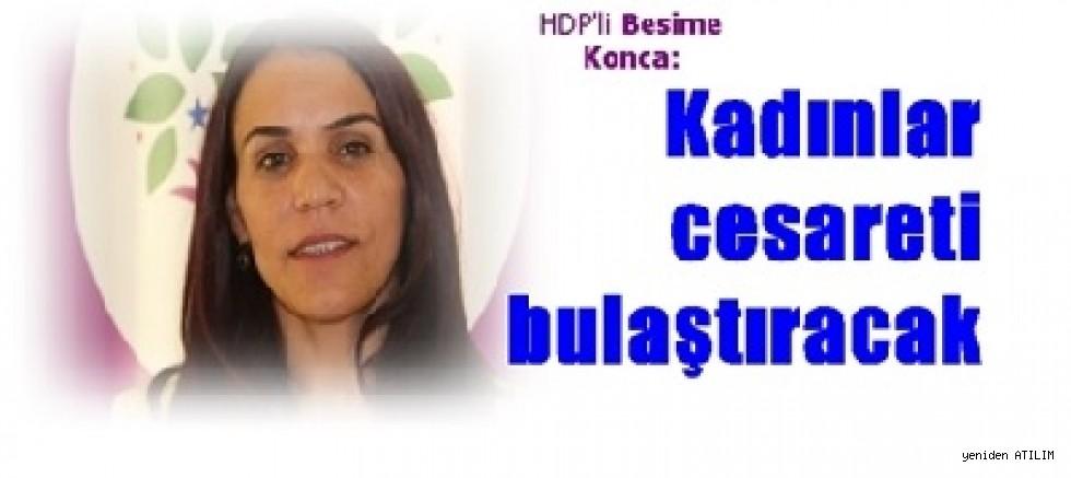 HDP'li Besime Konca,    Kadınlar cesareti bulaştıracak