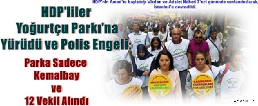 HDP'liler Yoğurtçu Parkı'na Yürüdü ve Polis Engeli