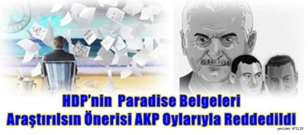 HDP'nin  Paradise Belgeleri Araştırılsın Önerisi AKP Oylarıyla Reddedildi