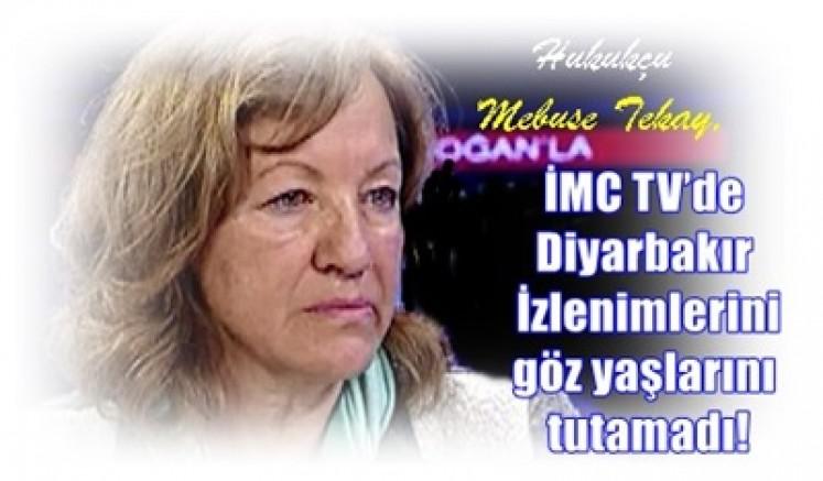 Hukukçu Mebuse Tekay, İMC TV'de Diyarbakır İzlenimlerini göz yaşlarını tuamadı!