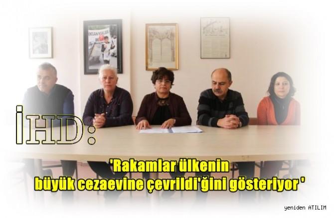 iHD,Rakamlar ülkenin büyük cezaevine çevrildiğini gösteriyor