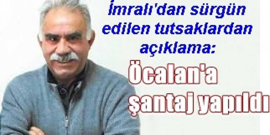 İmralı'dan sürgün edilen tutsaklar:Öcalan'a şantaj yapıldı