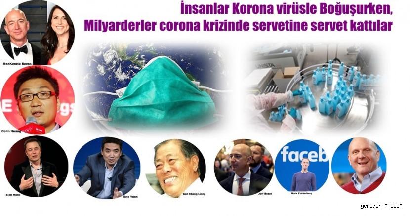 İnsanlar Korona virüsle Boğuşurken , Milyarderler corona krizinde servetine servet kattılar