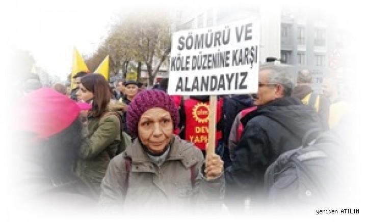 """İstanbul'da E. D.Güçleri,""""Sermayeye değil emekçiye bütçe, yaşasın sınıf dayanışması""""  talebiyle yürüdü"""