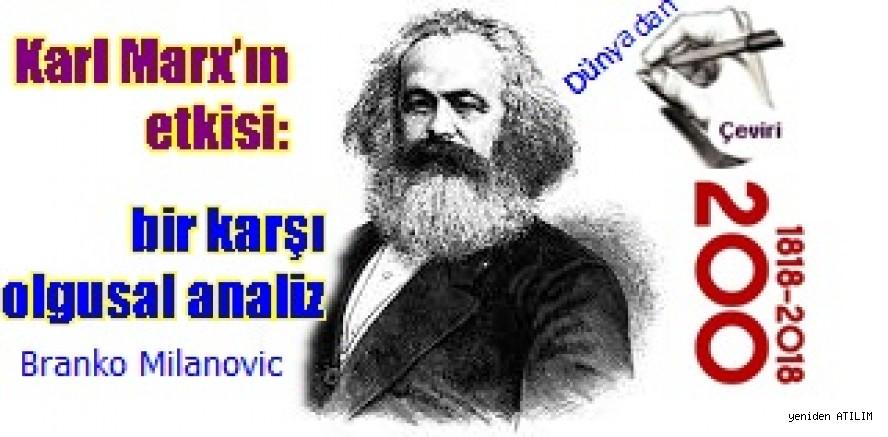 Karl Marx'ın etkisi: bir karşı olgusal analiz  Branko Milanovic