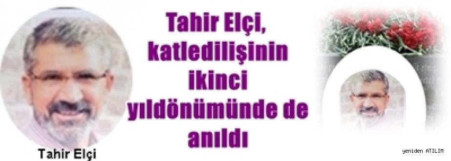 Katledilen Diyarbakır Baro Başkanı Tahir Elçi'nin mezarı başında anma:   Hırsız evin içindeyse kilit işe yaramaz