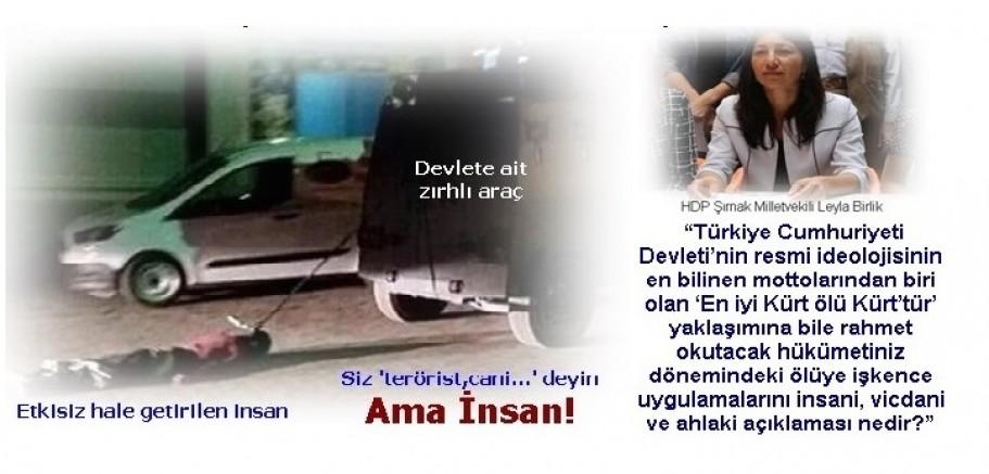 Leyla Birlik, Bakana sordu: ' ölüye işkence uygulamalarını insani, vicdani ve ahlaki açıklaması nedir?,