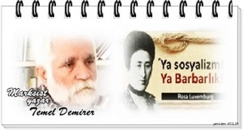 Marksist yazar Temel Demirer yazdı:Günümüzü en iyi Rosa Luxemburg'un sözü tanımlayabilir