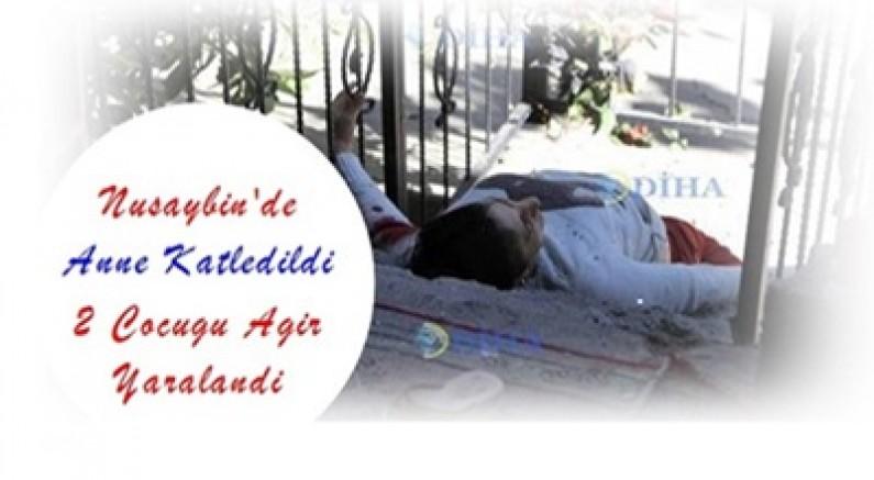 Nusaybin'de anne katledildi 2 çocuğu ağır yaralandı