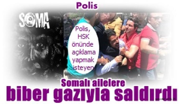 Polis, HSK önünde açıklama yapmak isteyen Somalı ailelere biber gazıyla saldırdı