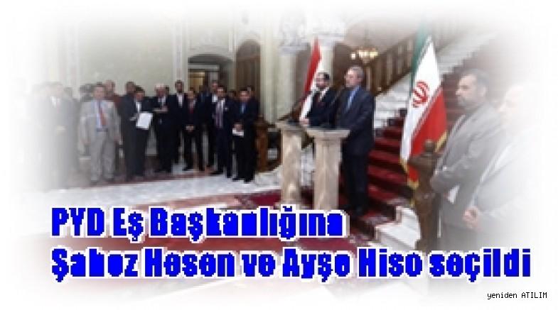 PYD Eş Başkanlığına Şahoz Hesen ve Ayşe Hiso seçildi