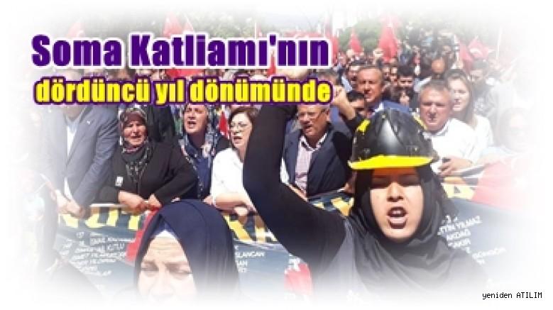 Soma'da miting:  Sorumlular maden kazalarına 'fıtrat' diyenlerdir