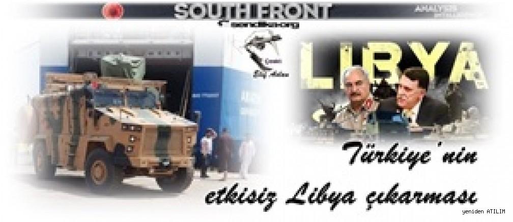 South Front sitesi'nde Türkiye'nin Libya'da bir askeri operasyon girişimi üzerine