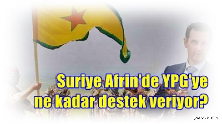Suriye Afrin'de YPG'ye ne kadar destek veriyor?