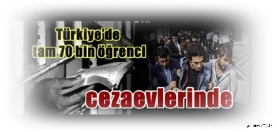 Türkiye'de tam 70 bin öğrenci cezaevlerinde