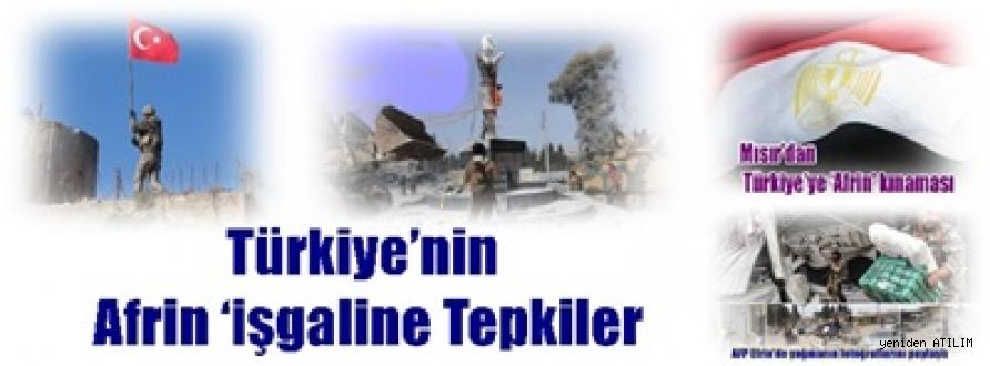 Türkiye'nin Afrin 'işgaline Tepkiler